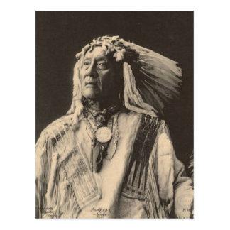 Carte Postale Indien vintage : Haut ours, Sioux -
