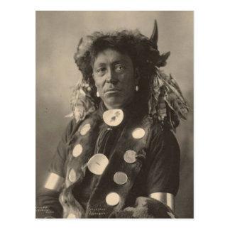 Carte Postale Indien vintage : Homme de nuage, Assinaboine -