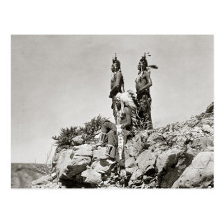 Carte Postale Indiens de corneille sur Cliff, 1905