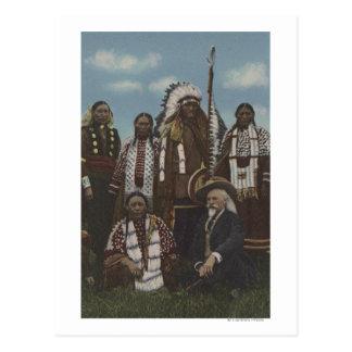 Carte Postale Indiens du nord-ouest - Buffalo Bill, séance