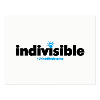 Carte postale indivisible