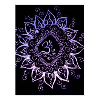 Carte postale indoue de symbole de henné