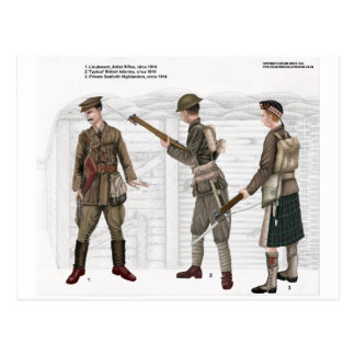 Carte Postale Infanterie britannique de la guerre mondiale 1