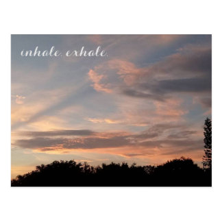 Carte Postale Inhale exhalent
