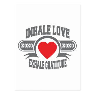 Carte Postale Inhalez l'amour, exhalez la gratitude