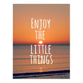 Carte Postale Inspiré appréciez la petite citation de choses