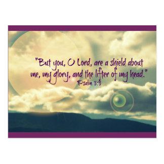 Carte postale inspirée de 3:3 de psaume