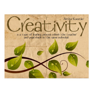 Carte postale inspirée de créativité