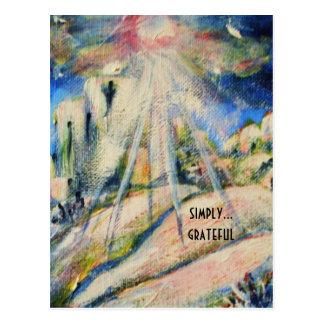 """Carte postale inspirée """"simplement reconnaissante"""""""