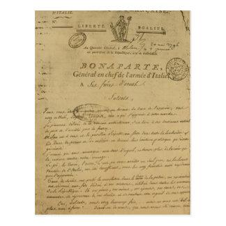 Carte Postale Instructions aux soldats publiés par napoléon