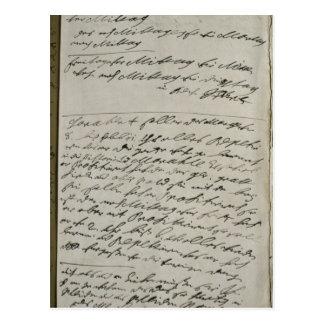 Carte Postale Instructions publiées par Friedrich Wilhelm I
