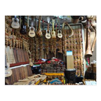 Carte Postale Instruments de musique - Machu Picchu - Perú