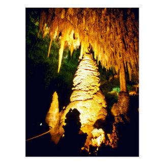 Carte Postale Intérieur allumé de parc national de cavernes de