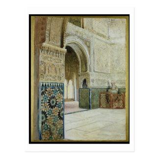 Carte Postale Intérieur d'Alhambra, Grenade (la semaine)