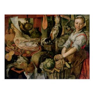 Carte Postale Intérieur de cuisine, 1566