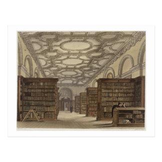 Carte Postale Intérieur de la bibliothèque publique, Cambridge,