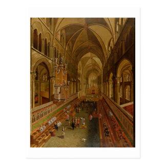 Carte Postale Intérieur de la cathédrale de Cantorbéry,