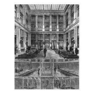 Carte Postale Intérieur et section transversale