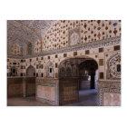 Carte Postale Intérieur, palais d'Amir, Inde