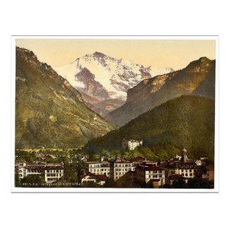 Carte Postale Interlaken, et le Jungfrau, Bernese Oberland,