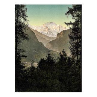 Carte Postale Interlaken, hôtels, Bernese Oberland, Suisse