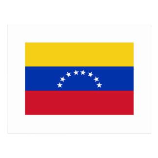 Carte Postale International de DRAPEAU du Venezuela