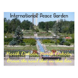 Carte postale internationale du Dakota du Nord de