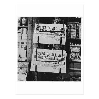 Carte Postale Internement japonais - journaux