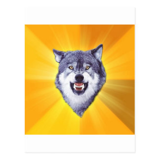 Carte Postale Internet animal Meme de conseil de loup de courage