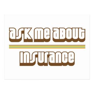 Carte Postale Interrogez-moi au sujet de l'assurance