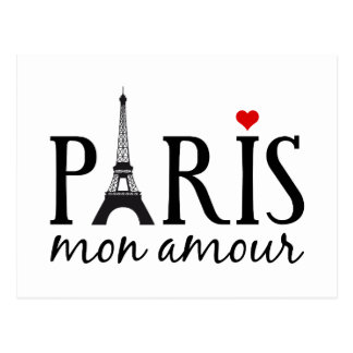 Carte Postale Intrigue amoureuse de Paris lundi avec Tour Eiffel