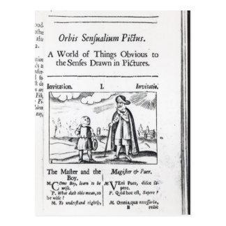 Carte Postale Introduction à 'Orbis Sensualium Pictus