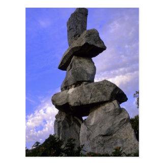 Carte Postale Inukshuk, Territoires du nord-ouest, Canada