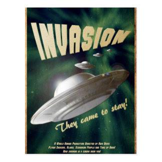 Carte Postale Invasion d'UFO - affiche de film vintage