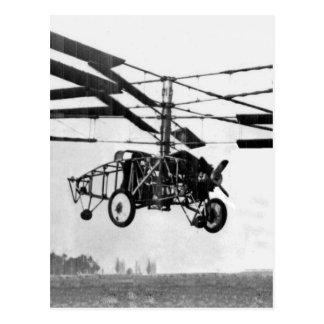 Carte Postale Invention d'hélicoptère