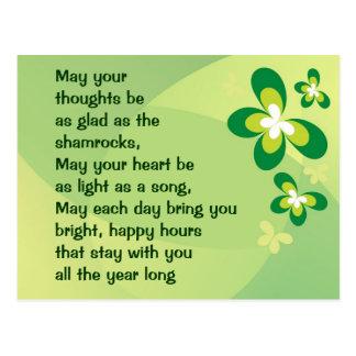 Carte postale irlandaise de bénédiction
