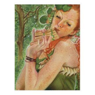 Carte postale irlandaise de fée de nymphe