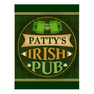 Carte postale irlandaise de Pub du jour de St