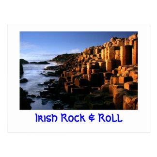 """Carte postale """"irlandaise de roche et de petit"""