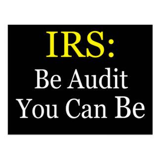 Carte Postale IRS : Soyez audit que vous pouvez être