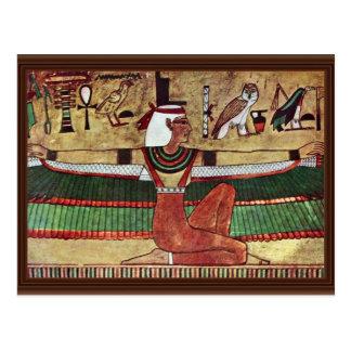 Carte Postale ISIS de déesse, par Ägyptischer Maler Um 1360