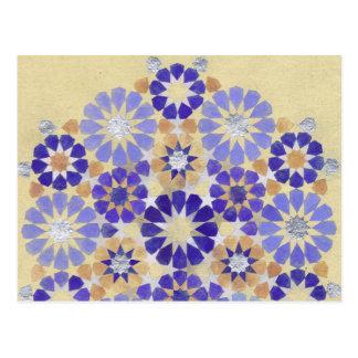 """Carte postale islamique de la géométrie """"de brume"""