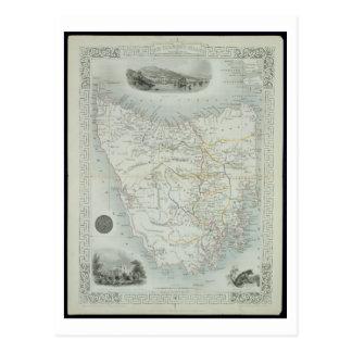Carte Postale Island de Van Diemen's ou la Tasmanie, d'une série