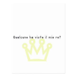 Carte Postale Italien-Roi