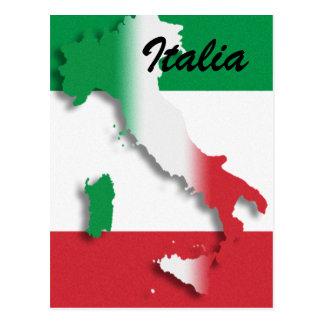Carte postale italienne de drapeau de l'Italie