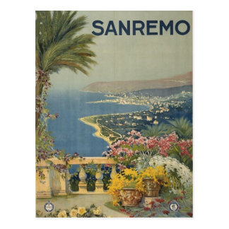 Carte postale italienne vintage de voyage de San
