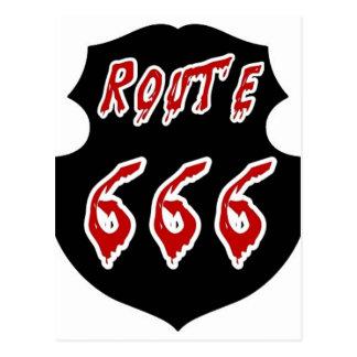 CARTE POSTALE ITINÉRAIRE 666