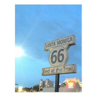 Carte Postale Itinéraire 66 de Santa Monica