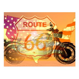 Carte Postale Itinéraire 66 de tour