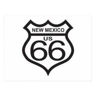 Carte Postale Itinéraire 66 du Nouveau Mexique USA